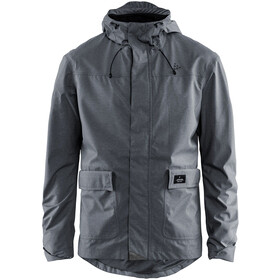 Craft Ride Precip Jas Heren, dark grey melange
